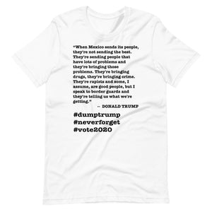 When Mexico Sends Its People Trump Quote Short-Sleeve Unisex T-Shirt