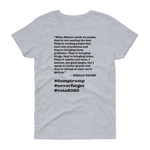 Load image into Gallery viewer, When Mexico Sends Its People Trump Quote Women's Short-Sleeve T-Shirt