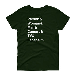 Person & Woman & Man Women's Short-Sleeve T-Shirt