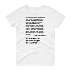 When Mexico Sends Its People Trump Quote Women's Short-Sleeve T-Shirt