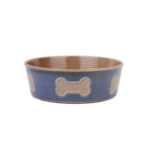 Barkley & Bella Melamine - Indigo Bone Large Bowl