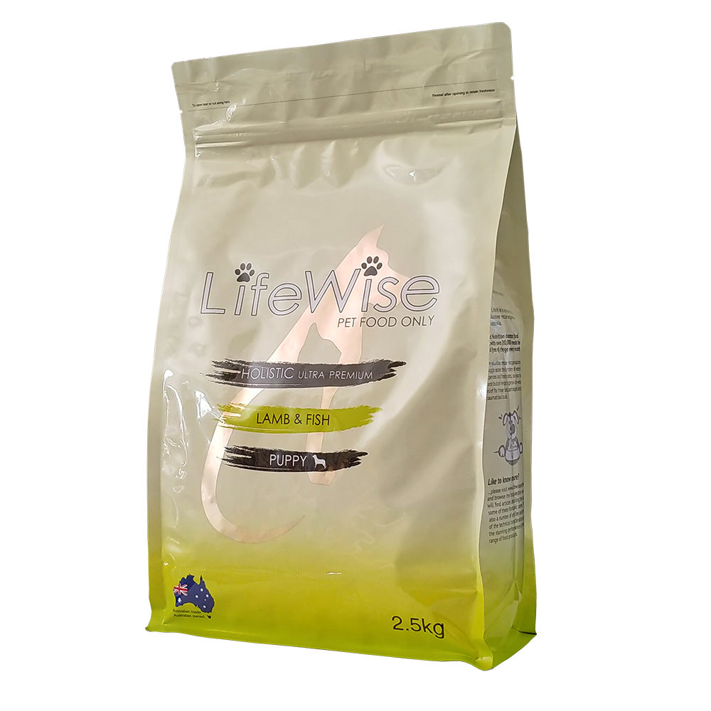 Lifewise Lamb & Fish (Small Bites) with vegetables for all pups during second stage growth 2.5kg