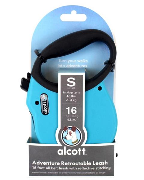 Alcott Adventure Retractable Leash Blue Small 4.8m