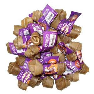 Bonofido 4inch knott Bone Natural 20 pack