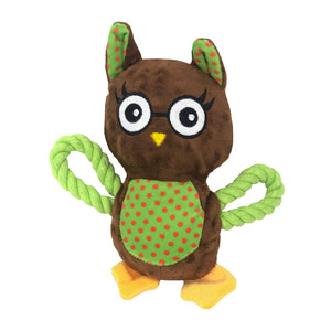 Dog Toy Puppy Owl Rope