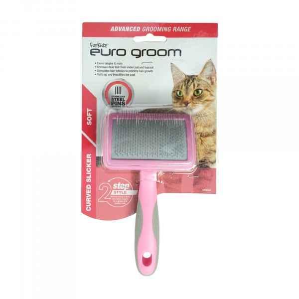 Euro Groom Cat Curved Slicker brush