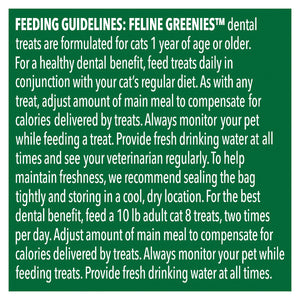 GREENIES Feline Dental Cat Treat Catnip Flavour 60g