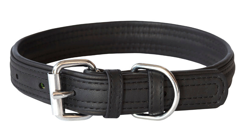 Rogz Leather Collar Small Black