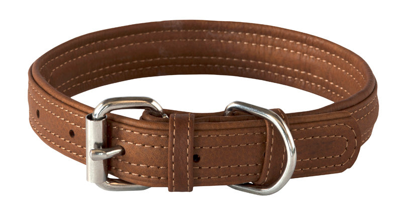 Rogz Leather Collar Small Brown