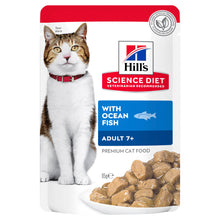 Load image into Gallery viewer, Hill's Science Diet Adult 7+ Ocean Fish Pouches Cat Food 85g