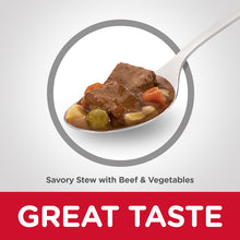 Load image into Gallery viewer, Hill's Science Diet Adult 7+ Savory Stew Beef & Vegetable Canned Dog Food 363g