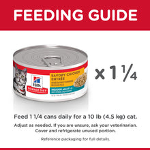 Load image into Gallery viewer, Hill's Science Diet Adult Indoor Savory Chicken Entree Canned Cat Food 156g