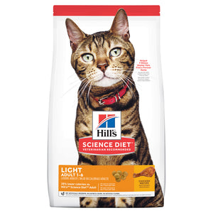 Hill's Science Diet Adult Light Dry Cat Food 3.5kg