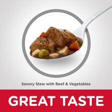 Load image into Gallery viewer, Hill's Science Diet Adult Savory Stew Beef & Vegetable Canned Dog Food 363g