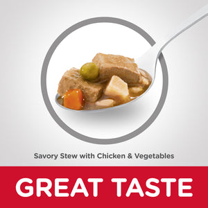 Hill's Science Diet Adult Savory Stew Chicken & Vegetable Canned Dog Food 363g
