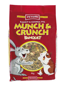 Peters Rabbit & Guinea Munch 4kg
