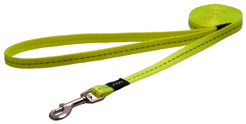 Rogz Classic Leash Yellow Dayglo Small 180cm