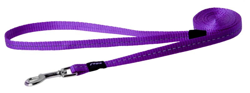 Rogz Classic Leash Purple Small 180cm