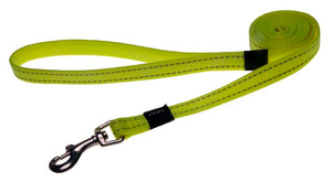 Rogz Classic Leash Dayglo Yellow Medium 140cm