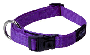 Rogz Classic Dog Collar Purple Large