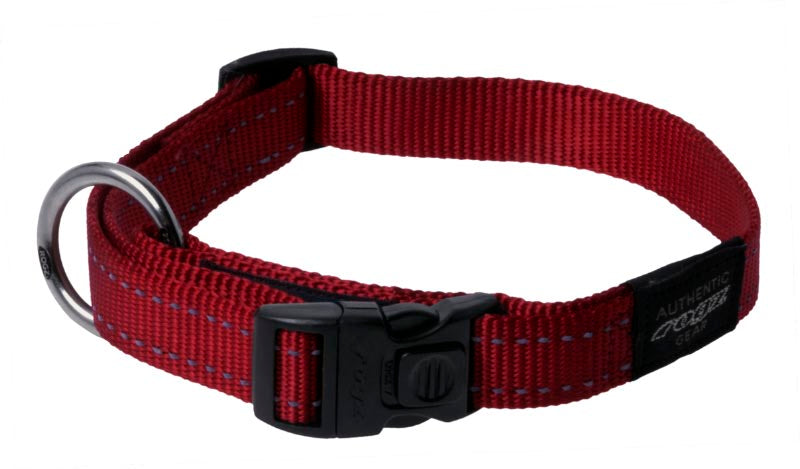 Rogz Fanbelt Dog Collar Red Large
