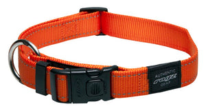 Rogz Classic Dog Collar Orange XLarge