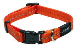 Rogz Classic Dog Collar Orange Small