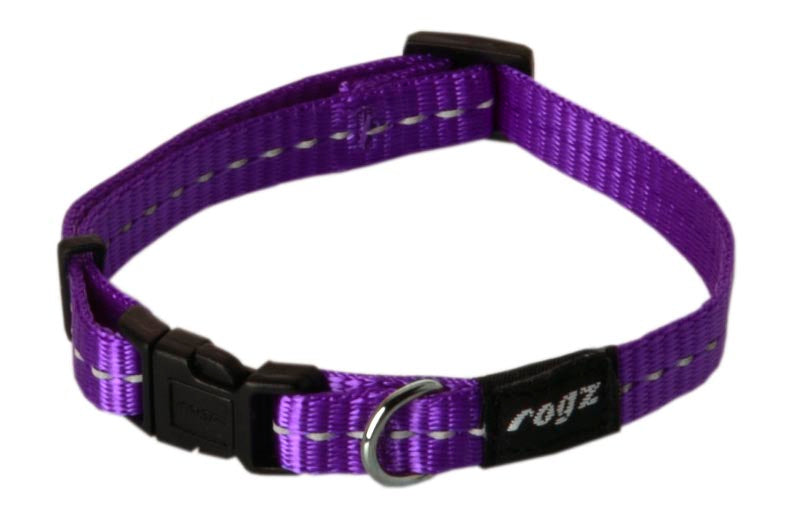 Rogz Nitelife Dog Collar Purple Small