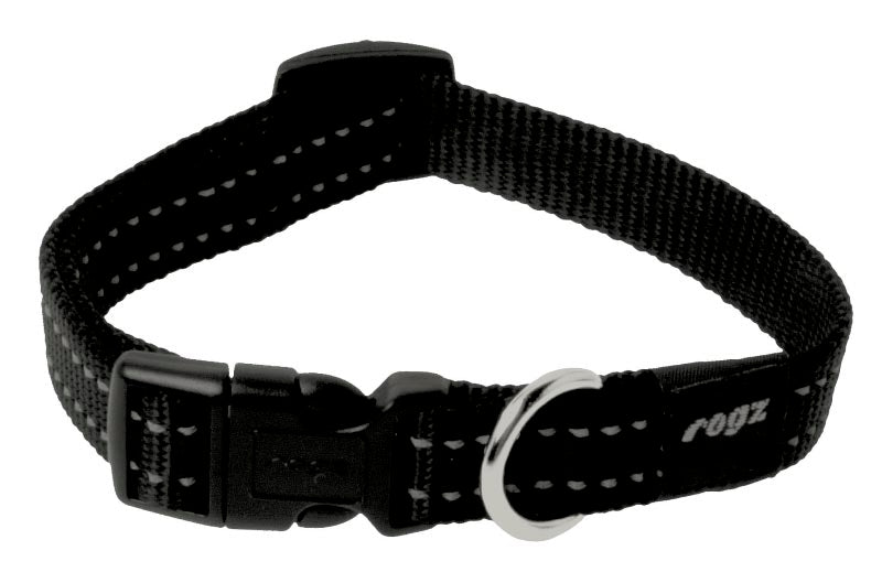 Rogz Snake Dog Collar Black Medium