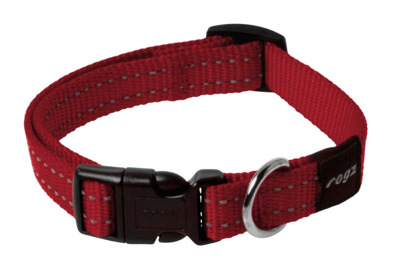 Rogz Classic Dog Collar Red Medium
