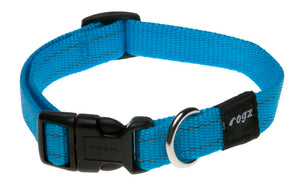 Rogz Snake Dog Collar Turquoise Medium