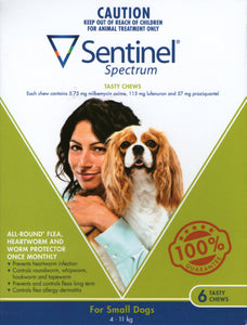 Sentinel Chew Small 4 to 11kg Dogs 6 pack