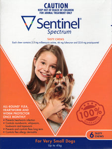 Sentinel Chew Very Small Up to 4kg Dogs 6 pack