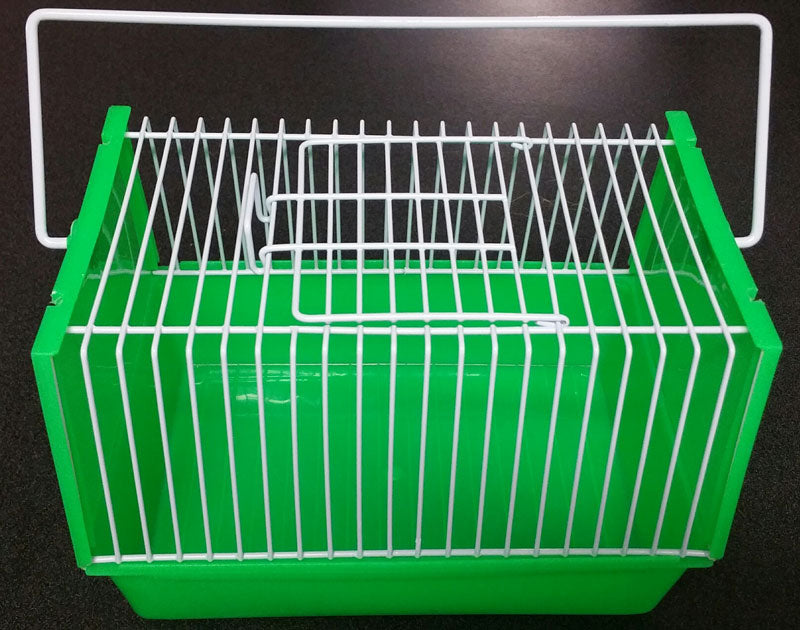 Small Animal Carrier Green & White