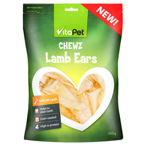 VitaPet Chewz Dog Treats Lamb Ears 200g