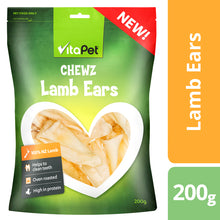 Load image into Gallery viewer, VitaPet Chewz Dog Treats Lamb Ears 200g