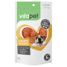 Load image into Gallery viewer, VitaPet Jerhigh Dog Treats Chicken Tenders 100g