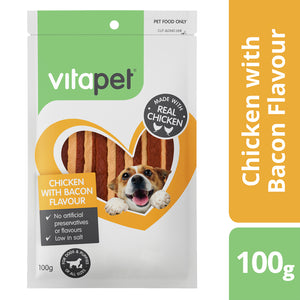 Vitapet Jerhigh Chicken with Bacon Flavour 100g