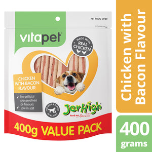 Vitapet Jerhigh Chicken with Bacon Flavour 400g