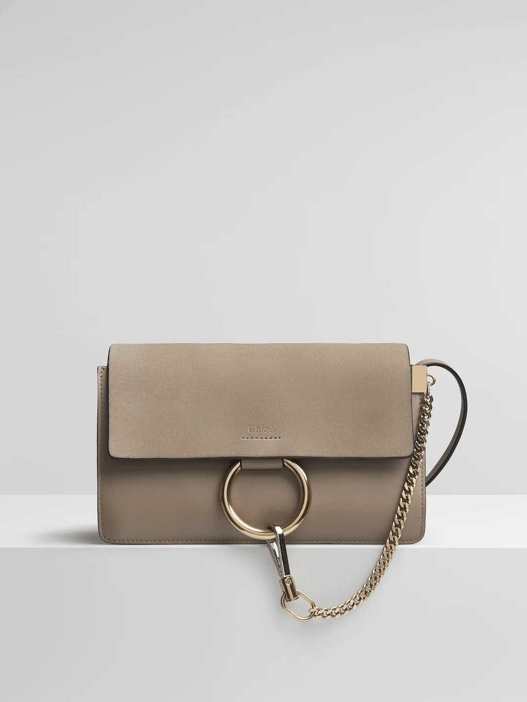 Chloe Small Faye Shoulder Bag in Motty Grey