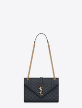 Load image into Gallery viewer, YSL. Envelope Medium Bag In Mix Matelassé Grain De Poudre Embossed Leather