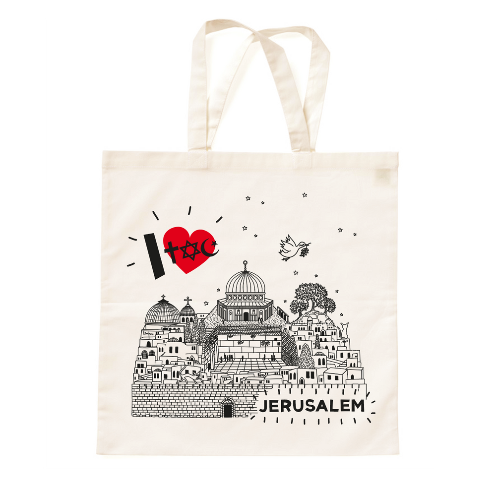 Load image into Gallery viewer, TOTE • I Love JERUSALEM •