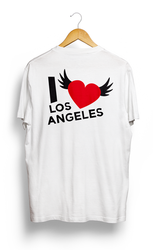 Load image into Gallery viewer, T-SHIRT • I Love LOS ANGELES • LOGO PRINTED FRONT OR BACK SIDE