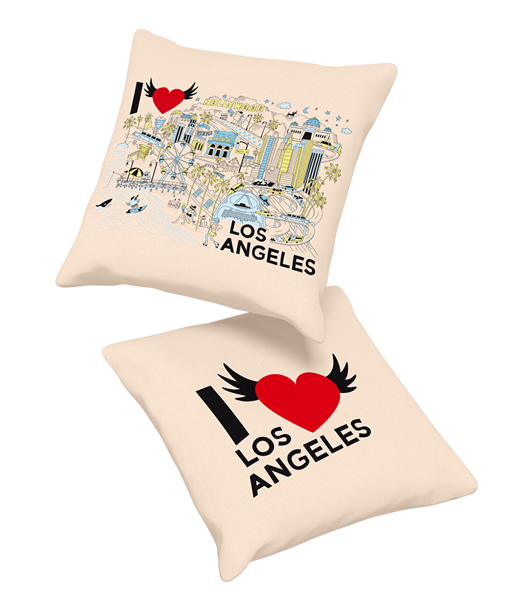 PILLOW • I Love LOS ANGELES • COMING SOON • PRE-ORDER NOW!