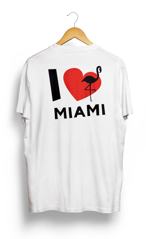Load image into Gallery viewer, T-SHIRT • I Love MIAMI • LOGO PRINTED FRONT OR BACK SIDE