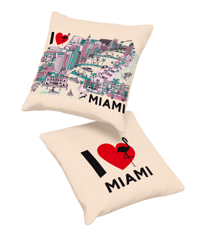 PILLOW • I Love MIAMI ••COMING SOON • PRE-ORDER NOW!
