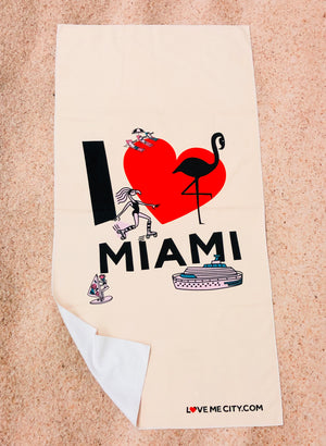 Load image into Gallery viewer, BEACH TOWEL • I Love MIAMI • COMING SOON • PRE-ORDER NOW!