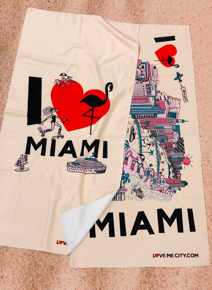 BEACH TOWEL • I Love MIAMI • COMING SOON • PRE-ORDER NOW!