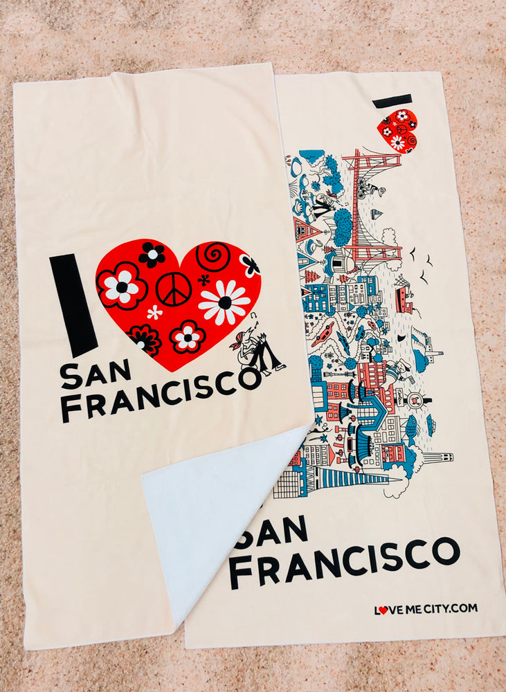 BEACH TOWEL • I Love SAN FRANCISCO • COMING SOON • PRE-ORDER NOW!