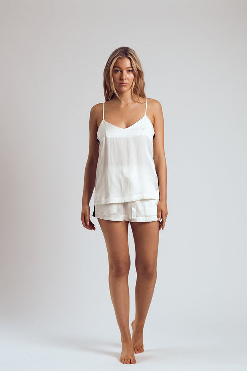 THE WHITE RUSSIAN SILK CAMI - Staying In Au
